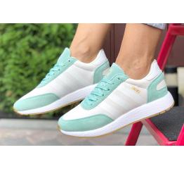 Купить Жіночі кросівки Adidas Iniki Runner білі з бірюзовим