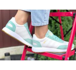 Купить Жіночі кросівки Adidas Iniki Runner білі з бірюзовим в Украине