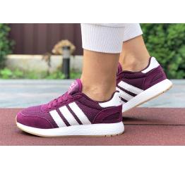 Купить Женские кроссовки Adidas Iniki Runner бордовые