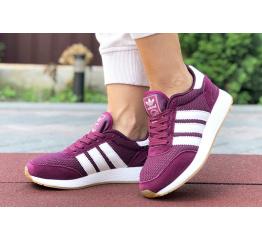 Купить Женские кроссовки Adidas Iniki Runner бордовые в Украине