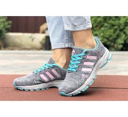 Купить Женские кроссовки Adidas Marathon TR 26 серые с бирбзовым и розовым в Украине