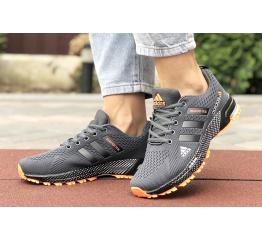 Купить Жіночі кросівки Adidas Marathon TR 26 сірі з помаранчевим в Украине