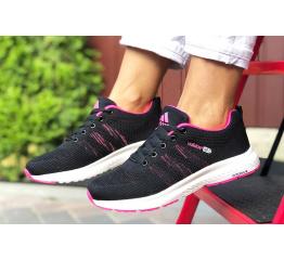 Купить Жіночі кросівки Adidas Neo чорні с малиновым