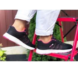 Купить Женские кроссовки Adidas Neo черные с малиновым в Украине