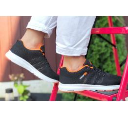 Купить Женские кроссовки Adidas Neo черные с оранжевым в Украине