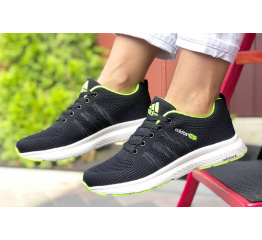 Купить Женские кроссовки Adidas Neo черные с зеленым