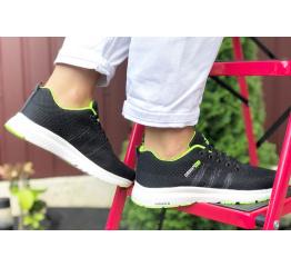 Купить Женские кроссовки Adidas Neo черные с зеленым в Украине