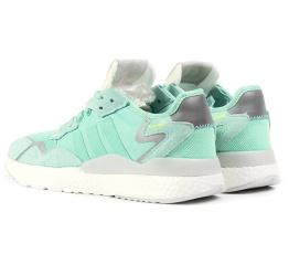 Купить Женские кроссовки Adidas Nite Jogger BOOST бирюзовые в Украине