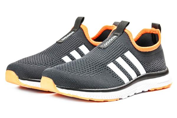 Женские кроссовки Adidas Slip-on темно-серые