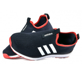 Купить Женские кроссовки Adidas Slip-on темно-синие с белым в Украине