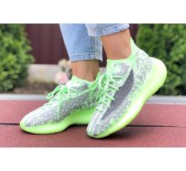 Купить Женские кроссовки Adidas Yeezy Boost 380 зеленые с серым