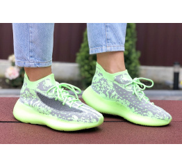 Купить Жіночі кросівки Adidas Yeezy Boost 380 зелені з сірим в Украине