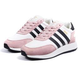 Купить Женские кроссовки на меху Adidas Iniki Runner розовые с белым
