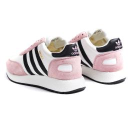 Купить Женские кроссовки на меху Adidas Iniki Runner розовые с белым в Украине