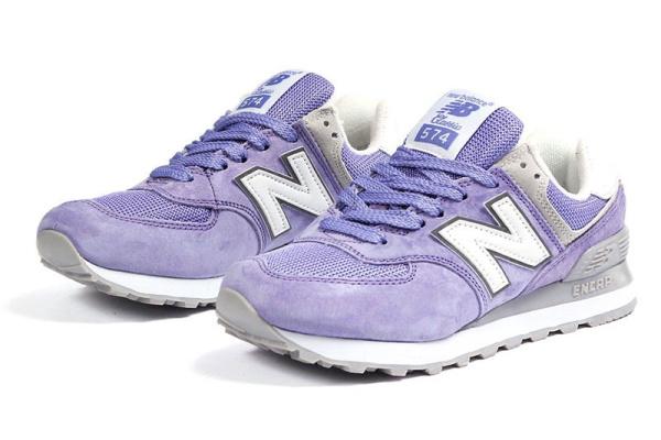 Женские кроссовки New Balance 574 светло-фиолетовые