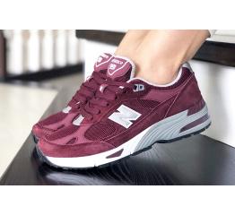 Женские кроссовки New Balance 991 бордовые