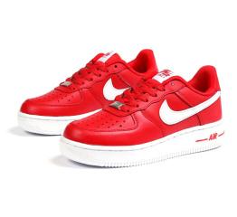 Купить Жіночі кросівки Nike Air Force 1 червоні з білим