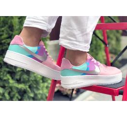 Купить Женские кроссовки Nike Air Force 1 Sage Low розовые с фиолетовым в Украине