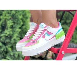 Купить Женские кроссовки Nike Air Force 1 Shadow белые с малиновые