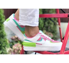 Купить Женские кроссовки Nike Air Force 1 Shadow белые с малиновые в Украине