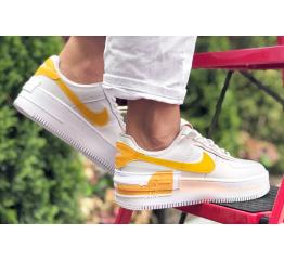 Купить Женские кроссовки Nike Air Force 1 Shadow белые с оранжевым в Украине
