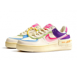 Женские кроссовки Nike Air Force 1 Shadow бежевые