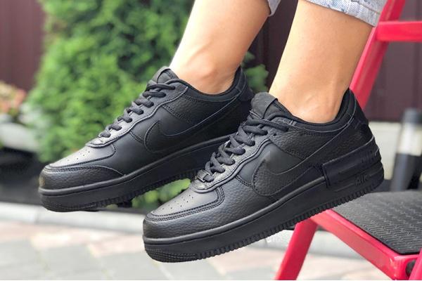 Женские кроссовки Nike Air Force 1 Shadow черные
