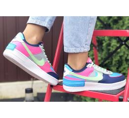 Купить Женские кроссовки Nike Air Force 1 Shadow многоцветные в Украине