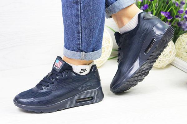 Женские кроссовки Nike Air Max 90 Hyperfuse темно-синие