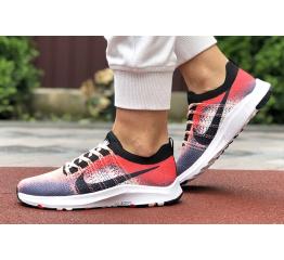 Купить Женские кроссовки Nike Air Zoom красные с серым