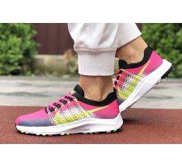 Купить Женские кроссовки Nike Air Zoom малиновые с серым