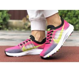 Купить Женские кроссовки Nike Air Zoom малиновые с серым в Украине