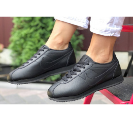 Купить Женские кроссовки Nike Classic Cortez Leather черные