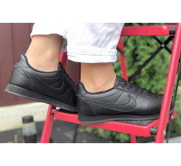 Купить Женские кроссовки Nike Classic Cortez Leather черные в Украине