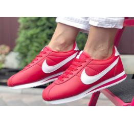 Купить Женские кроссовки Nike Classic Cortez Leather красные