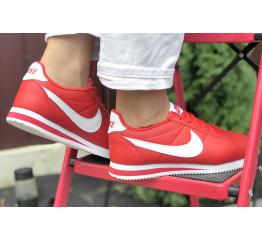 Купить Женские кроссовки Nike Classic Cortez Leather красные в Украине