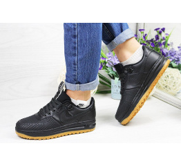 Купить Жіночі кросівки Nike Lunar Force LF-1 low чорні (black)