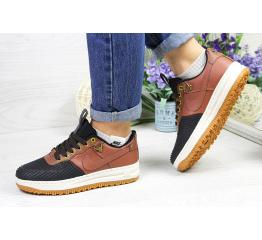 Купить Женские кроссовки Nike Lunar Force LF-1 low коричневые с черным (brown/black)