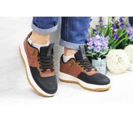 Купить Женские кроссовки Nike Lunar Force LF-1 low коричневые с черным (brown/black) в Украине