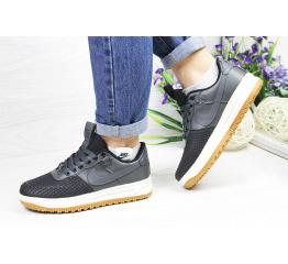 Купить Женские кроссовки Nike Lunar Force LF-1 low серые с черным (grey/black)