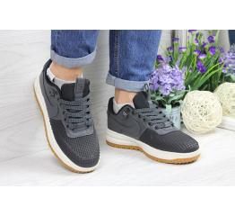 Купить Женские кроссовки Nike Lunar Force LF-1 low серые с черным (grey/black) в Украине