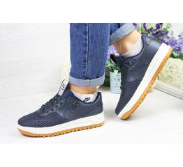Купить Женские кроссовки Nike Lunar Force LF-1 low темно-синие (dark-blue)