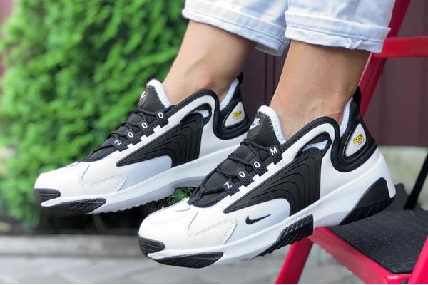 Женские кроссовки Nike Zoom 2K белые с черным