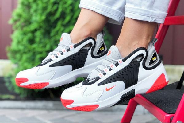 Женские кроссовки Nike Zoom 2K белые с черным и оранжевым