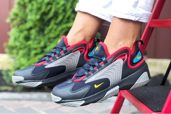 Женские кроссовки Nike Zoom 2K темно-синие с серым