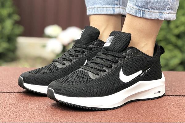 Женские кроссовки Nike Zoom Lunar 3 черные с белым