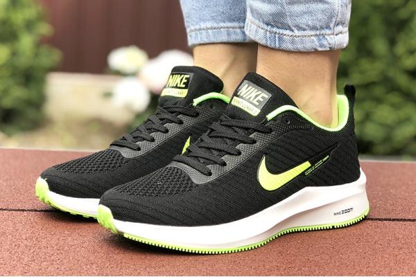 Женские кроссовки Nike Zoom Lunar 3 черные с неоново-зеленым