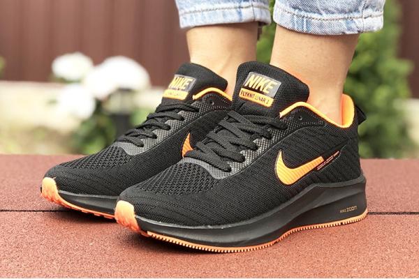 Женские кроссовки Nike Zoom Lunar 3 черные с оранжевым