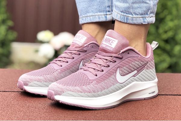 Женские кроссовки Nike Zoom Lunar 3 сиреневые с серым