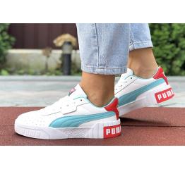 Купить Женские кроссовки Puma Cali Remix Wn's белые с бирюзовым